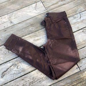 NWOT Coated skinny jeans